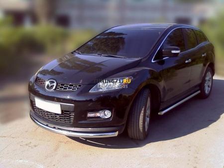 Mazda СX-7 2006-наст.вр.-Дуга передняя по низу бампера d-60 радиусная